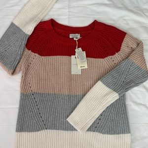 Lucky Brand Color Block Sweater